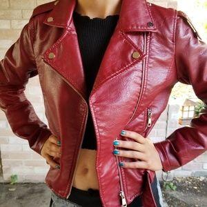 Me Jane faux Leather Moto Biker Jacket